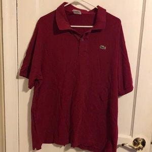 Men's xxl Lacoste burgundy polo